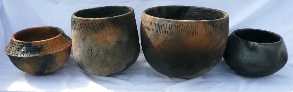 Neolithic-style cooking/dyeing pots.