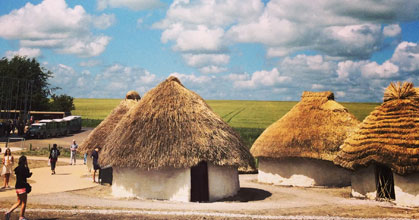 Stonehenge: Neolithic houses for Neolithic basketry