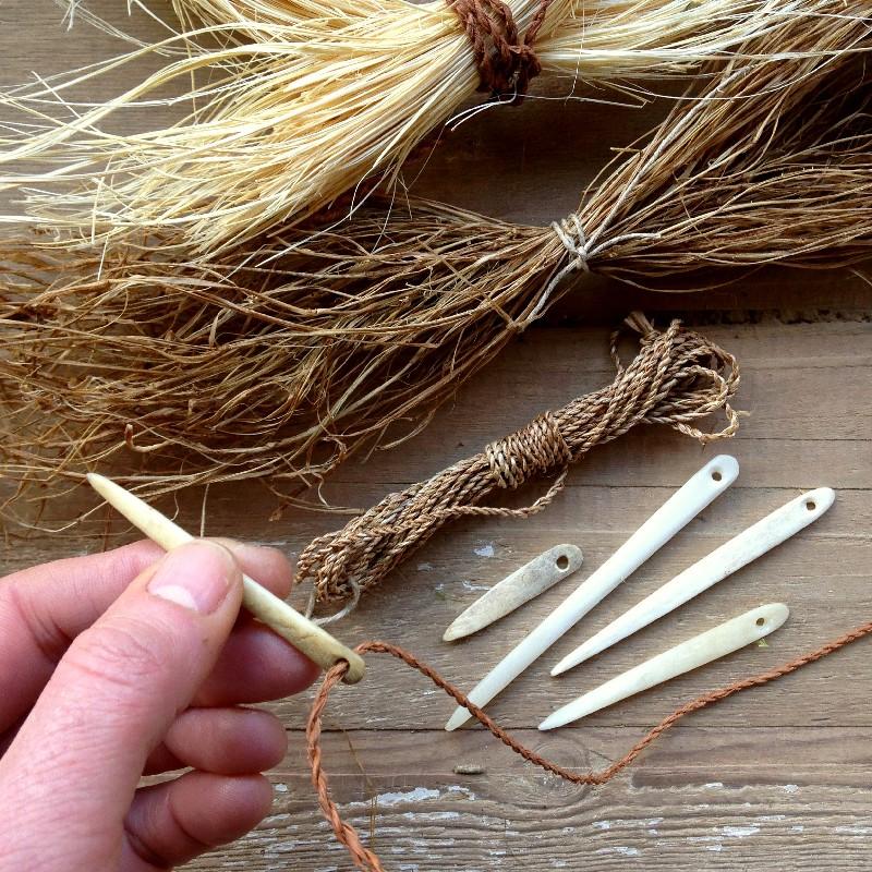cordage bone needles