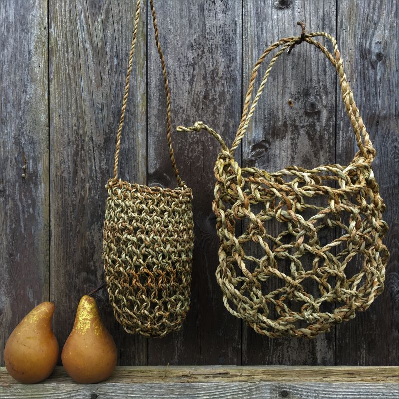 natural cordage netted bag