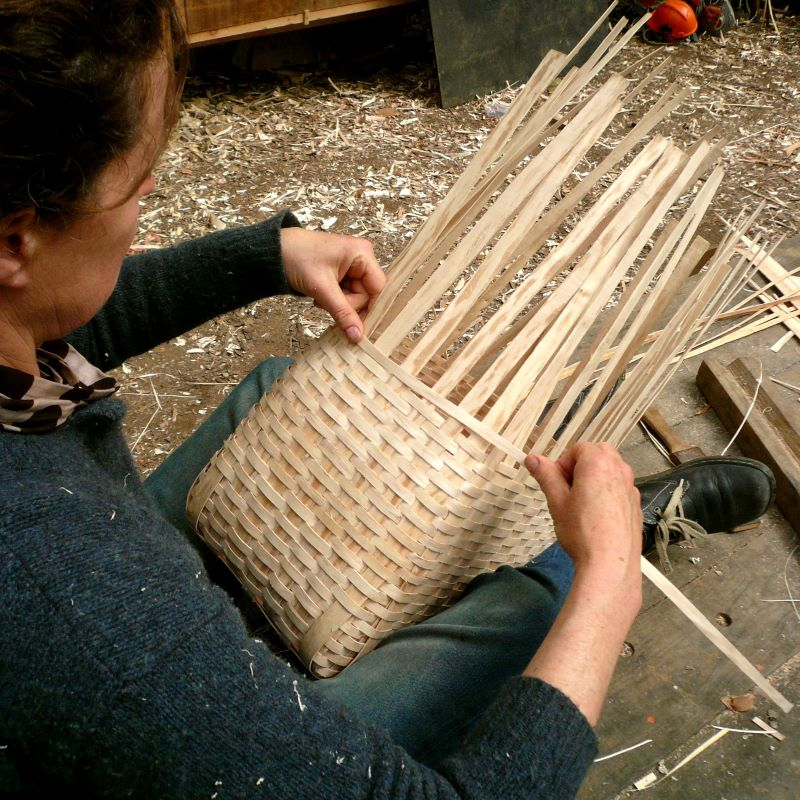 weaving an ash backpack