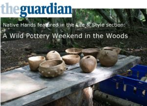 the Guardian wild pottery weekend in the woods