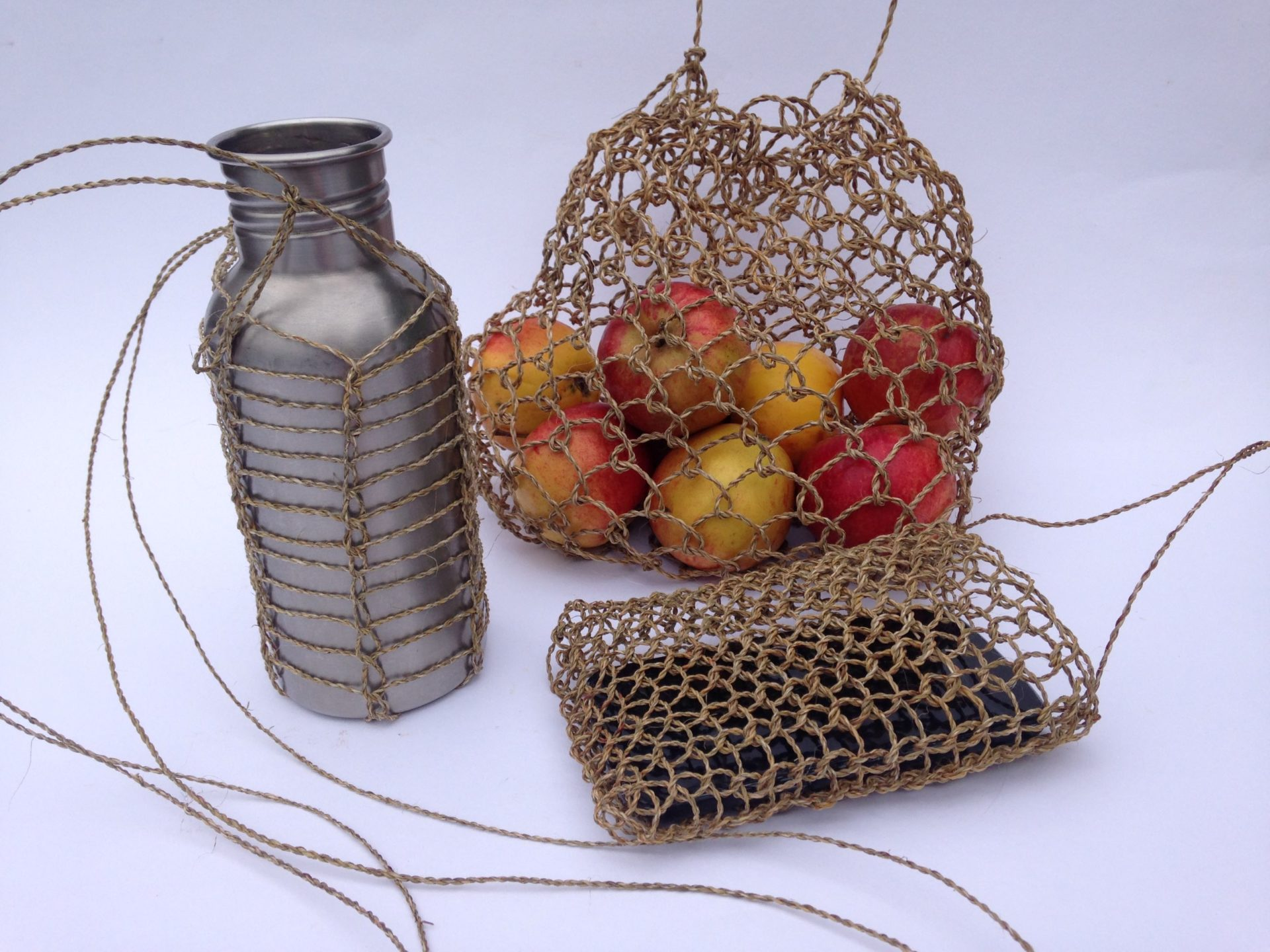 netted bags natural cordage
